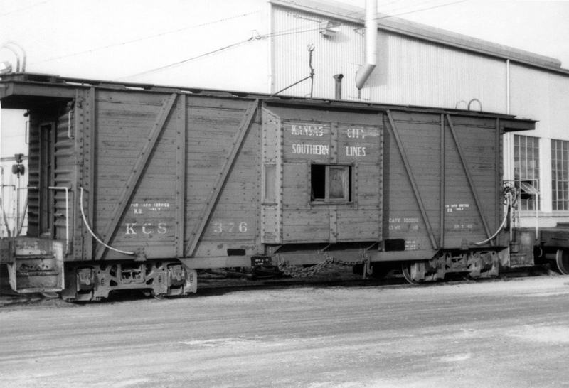 KCS Caboose #376 - Jan 1972